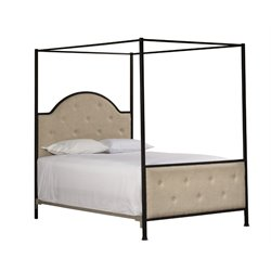 Curlin Canopy Bed in Old Black