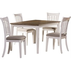 Hillsdale Embassy 5 Piece Dining Set in White