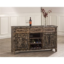 Hillsdale Florent Wine Rack Buffet in Blackwash