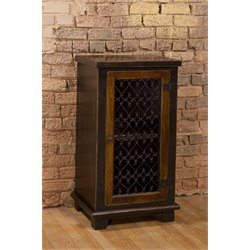 Hillsdale Gibbins 1 Door Curio Cabinet in Light Walnut