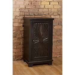 Hillsdale Hackett 1 Door Curio Cabinet in Light Walnut