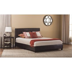 Hayden Faux Leather Upholstered Panel Bed in Brown
