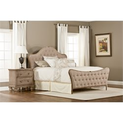 Hillsdale Jefferson Upholstered King Panel Bed in Beige