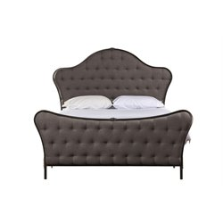 Jefferson Upholstered Panel Bed in Old Black