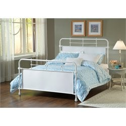 Hillsdale Kensington Queen Panel Bed in Textured White