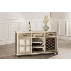Hillsdale LaRose Wine Rack Console Table in Handpainted White