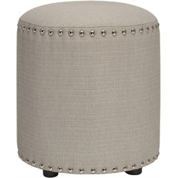 Hillsdale Laura Vanity Stool in Gray