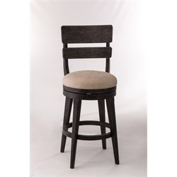 LeClair Swivel Bar Stool in Black