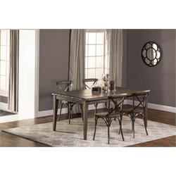 Lorient Dining Set in Washed Charcoal Gray