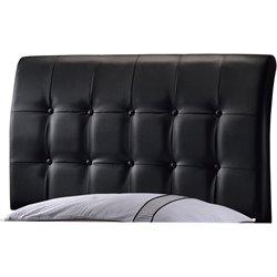 Hillsdale Lusso Faux Leather Upholstered Twin Panel Headboard in Black