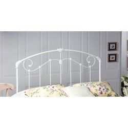 Hillsdale Maddie King Spindle Headboard in Glossy White
