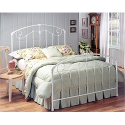 Hillsdale Maddie Queen Spindle Bed in Glossy White