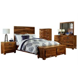 Hillsdale Madera Queen Storage Bedroom Set in Natural