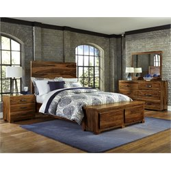 Hillsdale Madera King Storage Bedroom Set in Natural