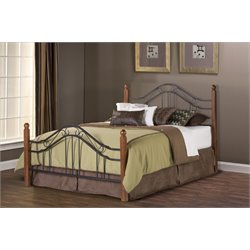 Madison Full Poster Bed in Textured Black