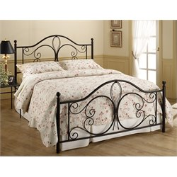 Hillsdale Milwaukee King Poster Bed in Antique Brown