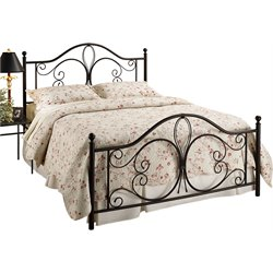 Hillsdale Milwaukee Full Poster Bed in Antique Brown