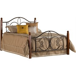 Hillsdale Milwaukee Twin Poster Bed in Textured Black