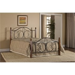 Hillsdale Milwaukee Full Poster Bed in Textured Black