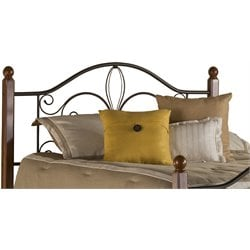 Hillsdale Milwaukee Full Queen Poster Headboard in Textured Black