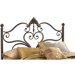 Hillsdale Newton King Spindle Headboard in Antique Brown