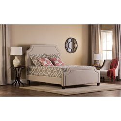 Hillsdale Parker Upholstered King Panel Bed in Stone