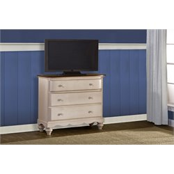 Hillsdale Pine Island 3 Drawer Media Chest in Old White