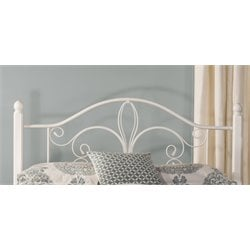 Hillsdale Ruby King Spindle Headboard in Textured White