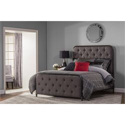 Salerno Upholstered Panel Bed in Black