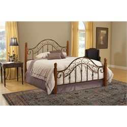 Hillsdale San Marco King Poster Bed in Brown Copper