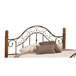 Hillsdale San Marco King Poster Headboard in Brown Copper