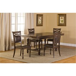 Seaton Springs Dining Set in Weathered Walnut