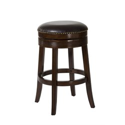 Tillman Swivel Bar Stool in Brown Cherry