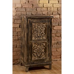 Toulon 1 Door Curio Cabinet in Brown