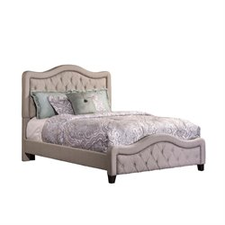 Trieste Upholstered Panel Bed in Dove Gray