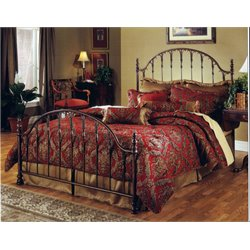 Hillsdale Tyler King Poster Bed in Antique Bronze