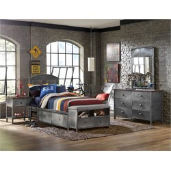 Hillsdale Urban Quarters Twin Panel Storage Bedroom Set