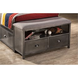 Hillsdale Urban Quarters Bedroom Bench in Black Steel