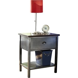 Hillsdale Urban Quarters Nightstand in Black Steel