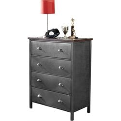 Hillsdale Urban Quarters 4 Drawer Chest in Black Steel