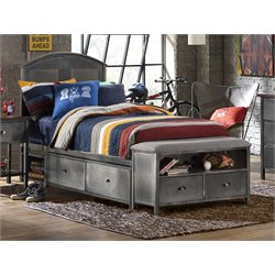 Urban Quarters Twin Panel Storage Bed with Bench