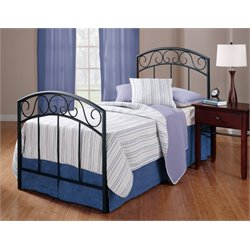 Hillsdale Wendell Twin Spindle Bed in Textured Black