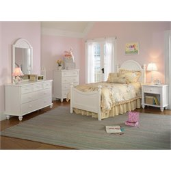 Hillsdale Westfield Full Bedroom Set in Off White