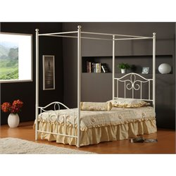 Westfield Canopy Bed in Off White