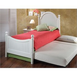 Westfield Twin Poster Bed in Off White