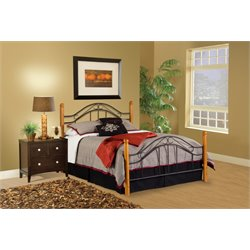 Hillsdale Winsloh Queen Poster Bed in Black
