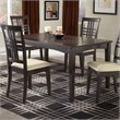 Hillsdale Tiburon Casual Dining Table in Dark Brown Espresso Finish