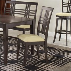 Hillsdale Tiburon Fabric  Dining Chair in Espresso (Set of 2)
