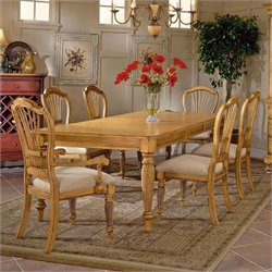 Hillsdale Wilshire 5 Piece Rectangular Dining Table Set in Pine Finish