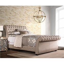 Hillsdale Bombay Upholstered Bed in Linen Stone